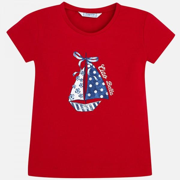 Тениска за момиче с принт