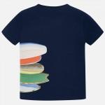 Тениска с принт сърф дъски за момче