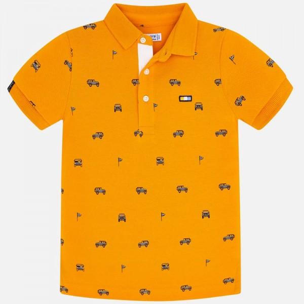 Поло тениска с принт джипове