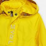 Непромокаемо яке с едноцветен дизайн за момче