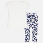Комплект тениска и клин с принт за момиче