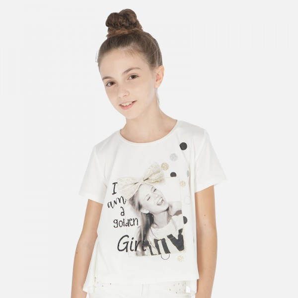 Тениска със снимка момиче
