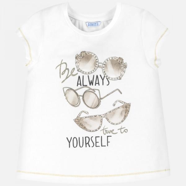 Тениска с принт очила