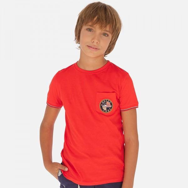 Тениска с джоб отпред - тийн серия
