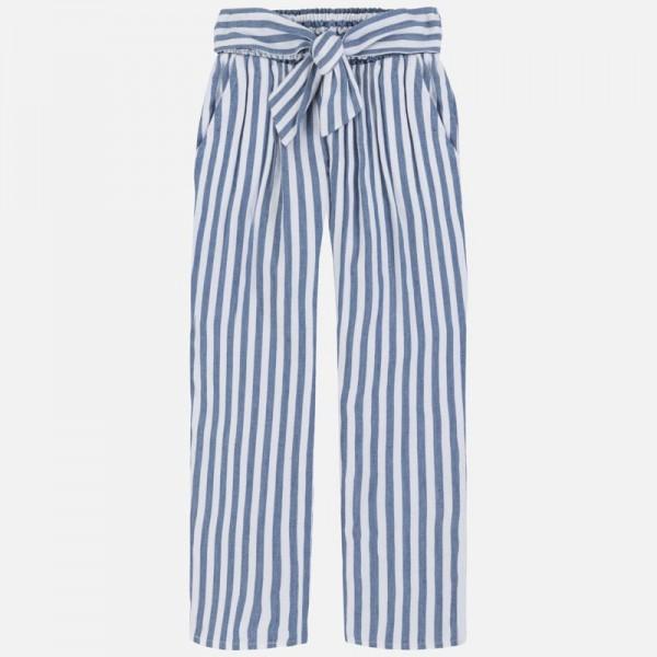 Панталон  лен на райета за момиче
