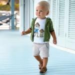 Къси прави панталони chino за бебе момче