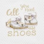Туника на точки с принт обувки
