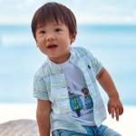 Риза райе с яка тип мандарин за  момче