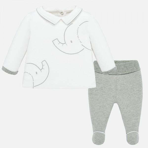 Комплект ританки и блуза с животни за новородено бебе