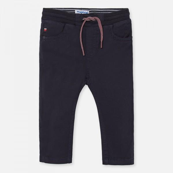 Дълъг панталон jogger с връзки за бебе момче