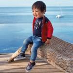Деним  jogger с цветен кант на талията