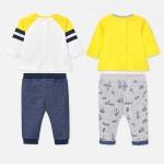 Комплект от 4 части за новородено бебе момче
