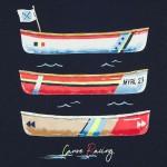 Комплект 3 части за момче с принт лодки и гребла