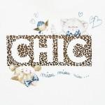 Комплект тениска CHIC и клин с щампи