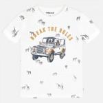 Тениска с принт животни и кола