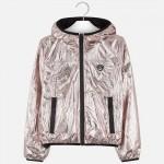 Непромокаемо метализирано яке за момиче