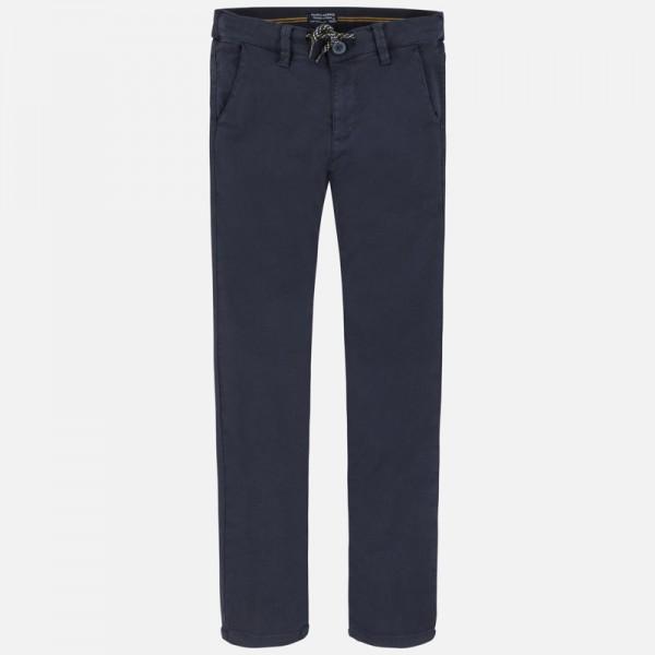 Дълъг панталон chino slim fit с връзки за момче