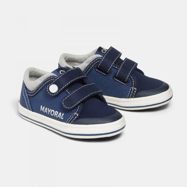 Ежедневни текстилни обувки с лого за бебе момче