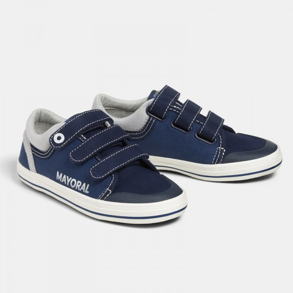 Спортни обувки от плат с тройно велкро - тийн серия