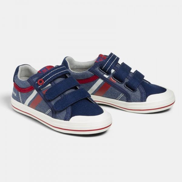 Трицветни спортни обувки от плат за момче- тийн серия