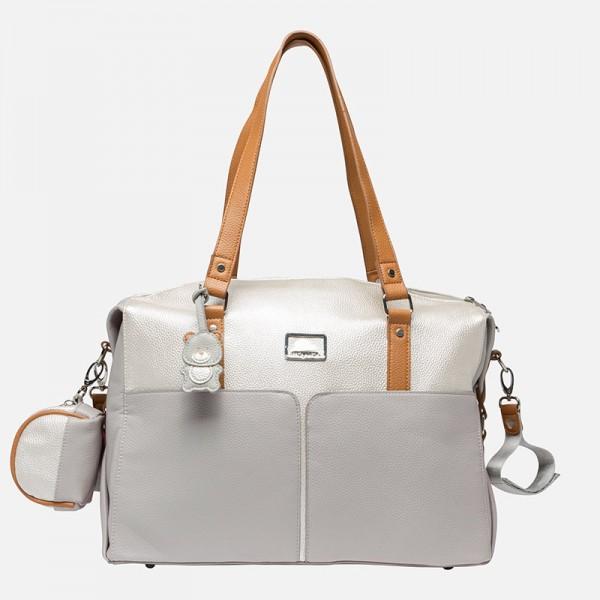 Чанта за майки с ключодържател и преносим калъф за биберон