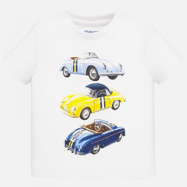 Тениска с принт коли