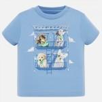 Тениска с принт кученца за момче
