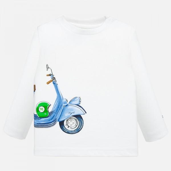 Блуза с принт мотопед