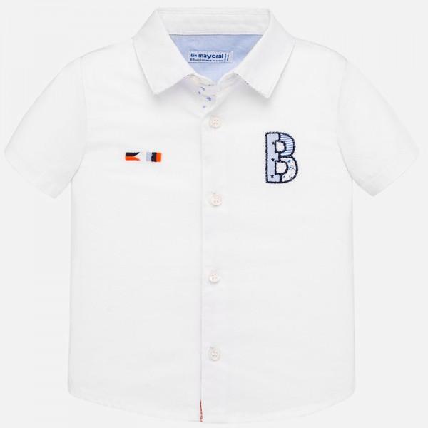 Риза с къс ръкав и апликации за момче