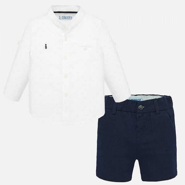 Комплект елегантна риза и бермуди за момче