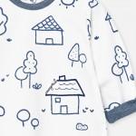 Комплект ританки и блуза с къщички за новородено бебе момче