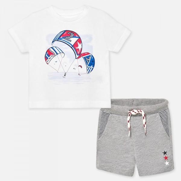 Комплект бермуди и тениска с парашути