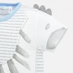 Комплект къси гащеризони със зебра за новородено бебе момче