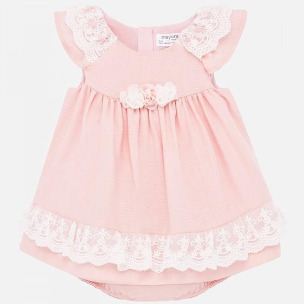 Официална рокля с гащички за новородено бебе момиче