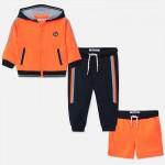 Спортен комплект със странични ленти за  момче