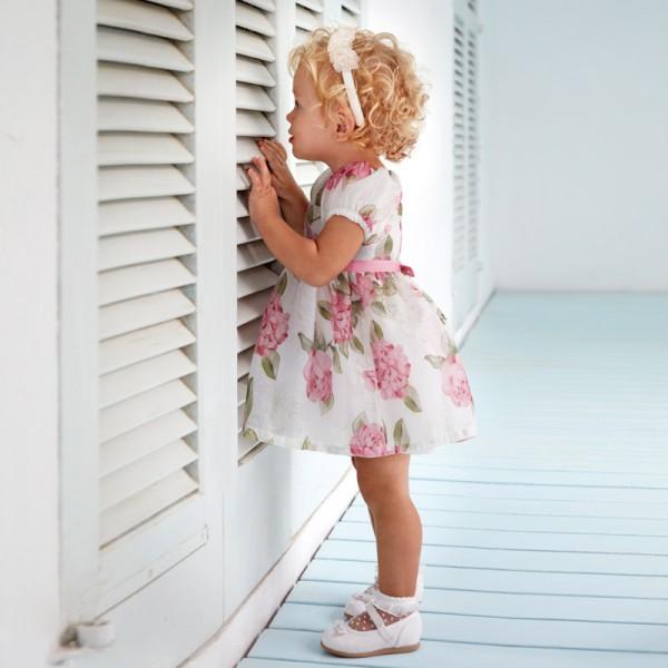 Рокля на цветя  за бебе момиче