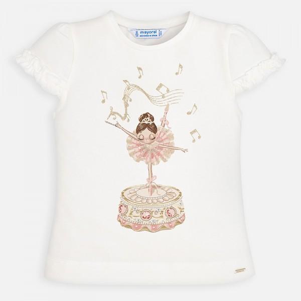Тениска с принт балерина