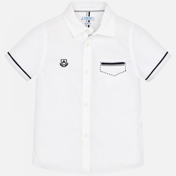 Официална риза с къс ръкав за момче