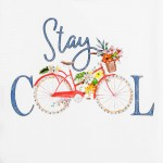 Тениска с цветен принт велосипед