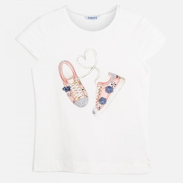Тениска с кецове на цветя