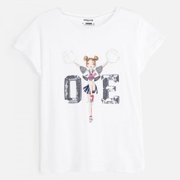 Тениска с мажоретка