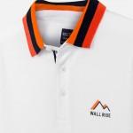Поло тениска с принт и контрастни детайли