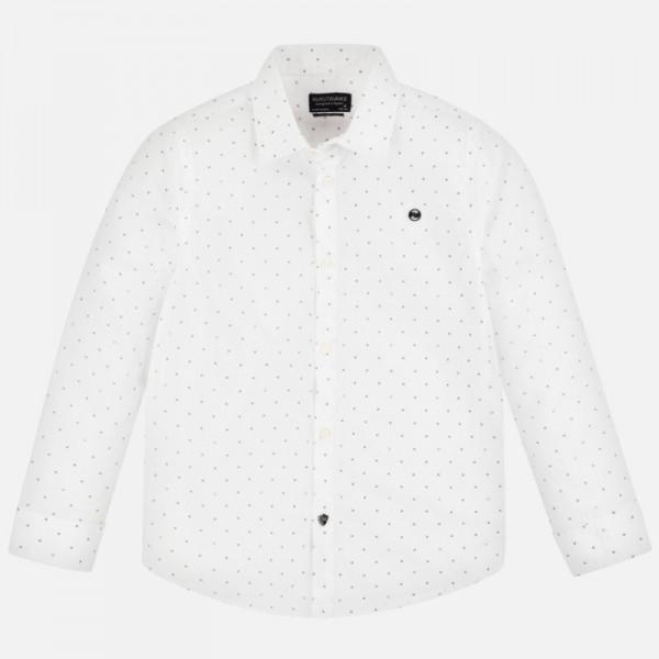 Риза с дълъг ръкав и принт за момче