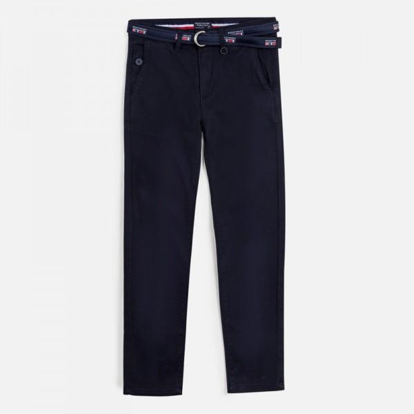 Дълъг панталон chino slim fit от пике за момче
