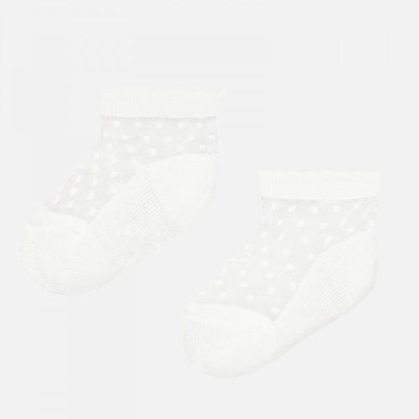 Чорапи от плумети за новородено бебе момиче