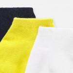 Комплект едноцветни къси чорапи до глезена за  момче