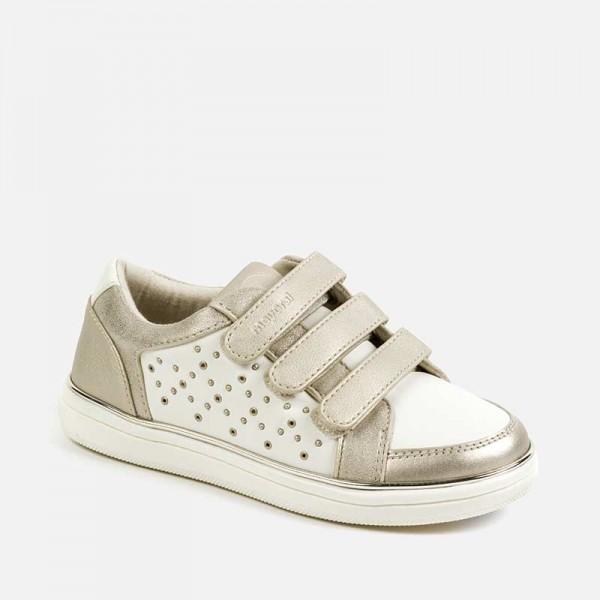 Спортни ежедневни обувки с капси за момиче