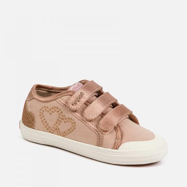 Спортни ежедневни обувки със сърца за момиче