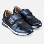 Блестящи спортни обувки с велкро за момиче - тийн серия