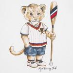 Тениска с принт тигър за бебе момче